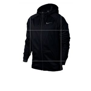 Black Nike Therma Full Zip Hoodie